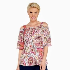 Susan Graver Liquid Knit Off-the-shoulder top